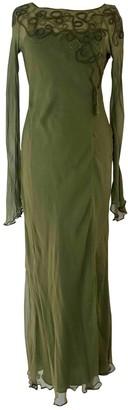 Philosophy di Alberta Ferretti Green Silk Dress for Women
