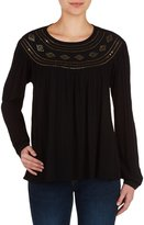 Peter Nygard Embellished Peasant Top