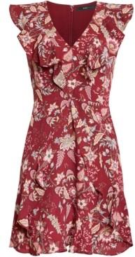 BCBGMAXAZRIA Pleated Floral-Print Dress