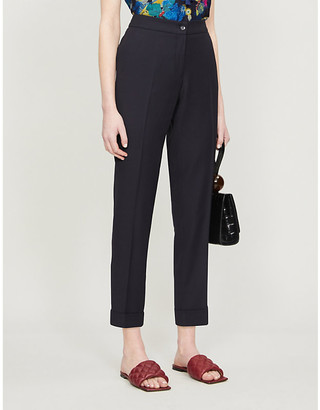 Etro High-rise straight-leg trousers