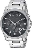 Armani Exchange A|X  Men's AX2092 Analog Display Analog Quartz Silver Watch