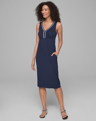 Soma Intimates Crochet Edge Dress with Built-In Bra