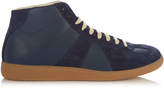 Maison Margiela Replica mid-top leather and suede trainers