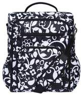 French Bull Vine Condensed Convertible Backpack Diaper Bag in Black/White