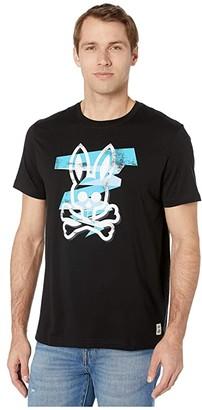 Psycho Bunny Lockyer Graphic T-Shirt (Black) Men's Clothing