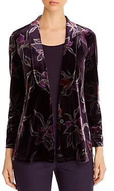 Nic+Zoe Floral Print Velvet Jacket
