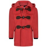 Baby Boys Red Wool & Cashmere Duffle Coat