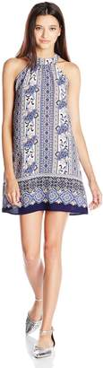 Lucy-Love Lucy Love Women's Patchouli Rose Printed Victoria Dress Medium