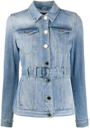 Pinko Belted Denim Jacket