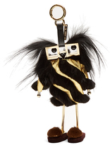 Fendi Power-Bank Witches fur and leather bag charm
