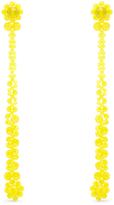 Simone Rocha Crystal-flower drop earrings