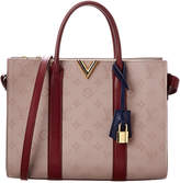 Louis Vuitton Burgundy Leather Very Tote Mm