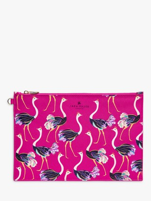 Sara Miller Ostrich Pouch Bag