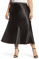Vince Camuto Plus Size Women's Hammered Satin Maxi Skirt