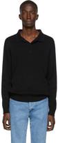 A.P.C. Black Harold Long Sleeve Polo
