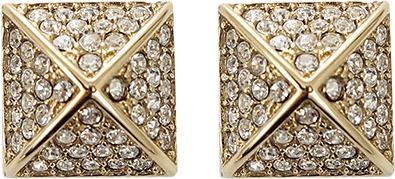Michael Kors JEWELRY Pave Pyramid Stud Earrings