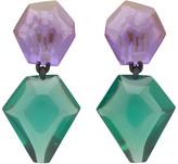 Monies Jewellery Purple and Green Riley Earrings