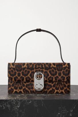 Christian Louboutin Elisa Small Leopard-print Textured-leather Shoulder Bag - Leopard print