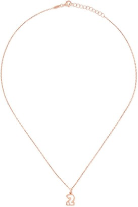 As 29 14kt rose gold diamond Two necklace