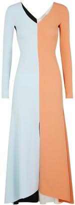 A.W.A.K.E. Mode Colour-blocked Jersey Dress