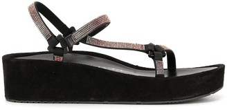 Pedro Garcia Low Wedge Heel Embellished Slides