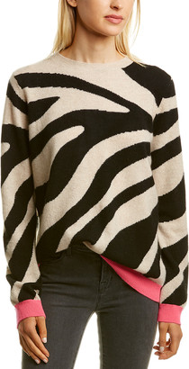 Scott & Scott London Lulu Zebra Print Cashmere Sweater