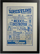 Rejuvenation Framed Lucha Libre Wrestling Poster Mr Mexico