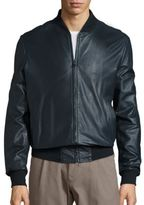 Saks Fifth Avenue COLLECTION Leather Bomber Jacket