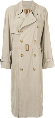 Burberry Pre-Owned Belted Trench Coat