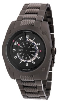 Heritor Automatic Daniels Black Stainless Steel Watches 43mm