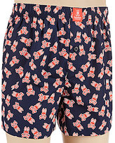 Psycho Bunny Woven Tossed Bunny Logo Print Boxers
