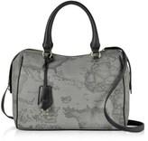 Alviero Martini Women's Grey Canvas Handbag.