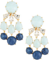 Lele Sadoughi Papyrus Stone & Crystal Chandelier Earrings