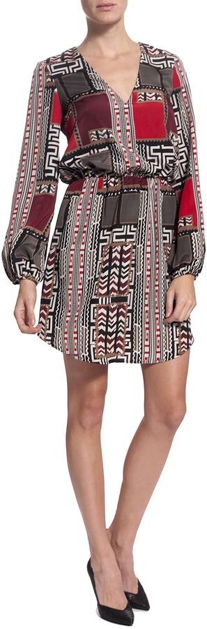 LAVENDER BROWN Long Sleeve Print Dress