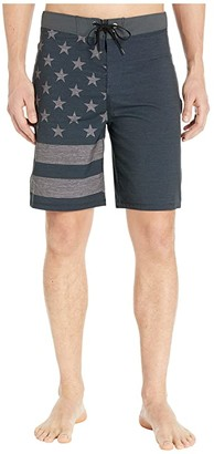 Hurley 20 Phantom Patriot Boardshorts (Black 2) Men's Swimwear