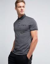 Ted Baker Herringbone Polo Shirt