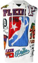 Philipp Plein hooded basket ball printed gilet - men - Cotton - L