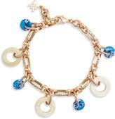 Akola Horn & Glass Charm Bracelet