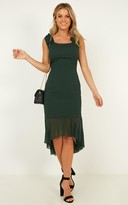 Showpo Turn To You Dress in emerald - 6 (XS) Dresses
