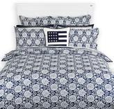 Lexington Printed Sateen Duvet Cover - Blue - Double