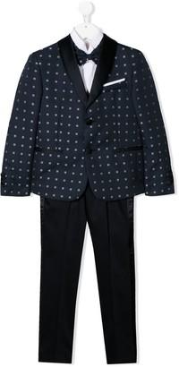 Colorichiari Tile-Jacquard Three Piece Suit