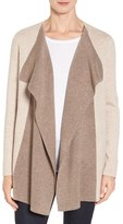 Nordstrom Women's Double Knit Contrast Cashmere Cardigan