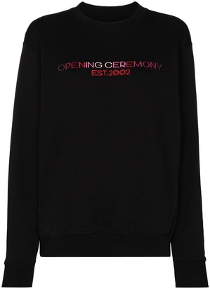 Opening Ceremony Logo Embroidered Cotton Sweatshirt