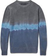 The Elder Statesman Dégradé Cashmere Sweater - Blue
