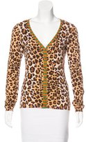 Moschino Cheap & Chic Moschino Cheap and Chic Leopard Pattern Button-Up Cardigan