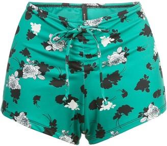 Morgan Lane Andie floral-print bikini bottoms