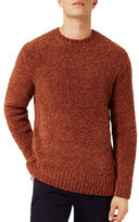 Topman Wool-Blend Chunky Boucle Textured Sweater