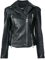 Yang Li slim biker jacket
