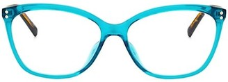 Kate Spade Milena 55MM Blue Block Cat Eye Glasses