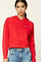 Forever 21 FOREVER 21+ I Dont Know Embroidered Hoodie